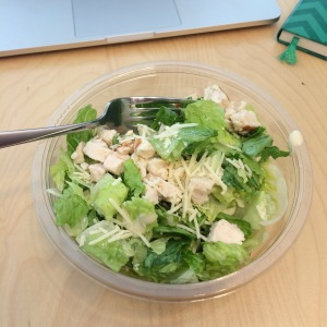 Blogger trick: only photo the salad, not the Cashew Clusters. That way, it's healthy!