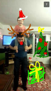 2013 12 24 Tim and Jared Merry Christmas Snapchat