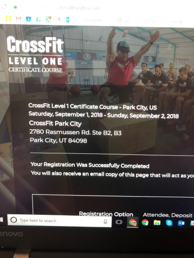 2018-08-01 CrossFit Cert